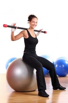 Beautiful sexy woman doing fitness