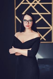 Beautiful sexy woman in room