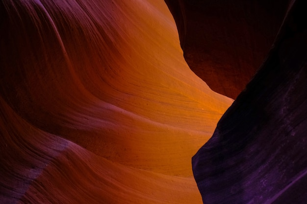 Bellissimo scatto dell'antelope canyon in arizona