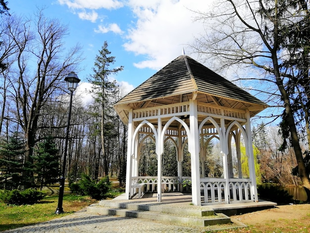 Beautiful shot of the arbor in the park norweski in jelenia góra, poland
