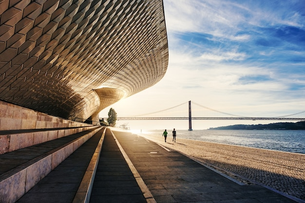 Beautiful shot of maat, lisbon, portugal