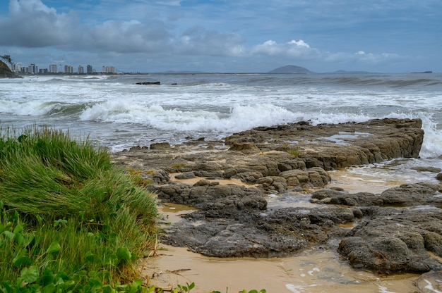 Beautiful shot of mooloolaba beach in queensland australia