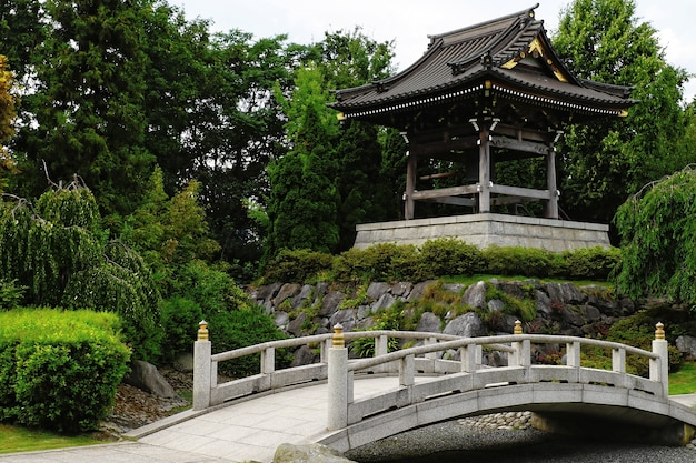Красивый снимок eko-haus der japanischen kultur ev дюссельдорф, германия