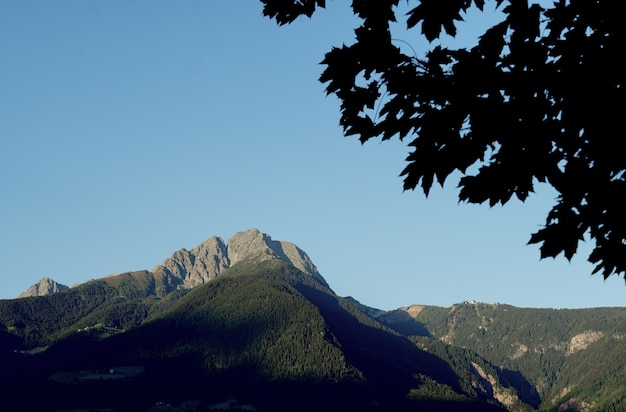 ピークイフィンガーのロッキー山脈の美しいショット