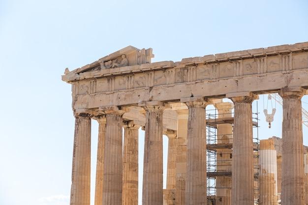 Красивый снимок цитадели акрополя в афинах, греция