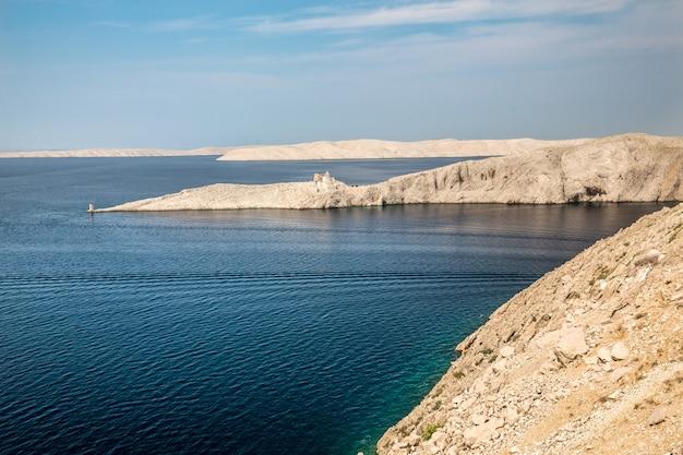 ミズコビッチ、クロアチアの青い曇り空の下でforticaの美しいショット