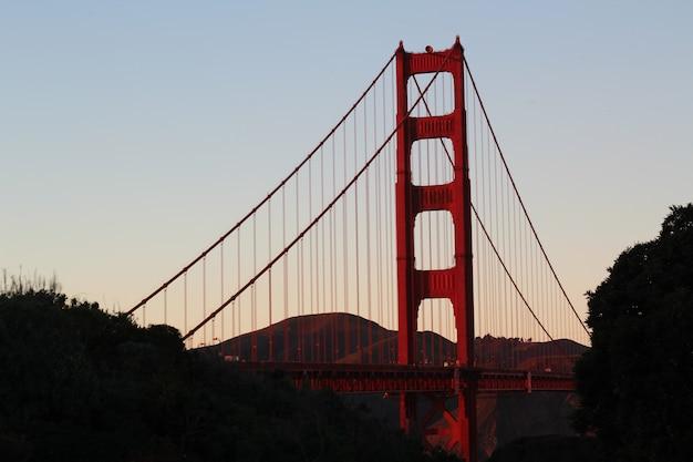 Красивый снимок моста золотые ворота