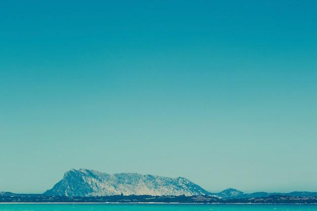 Beautiful shot of sardinian limestone massif
