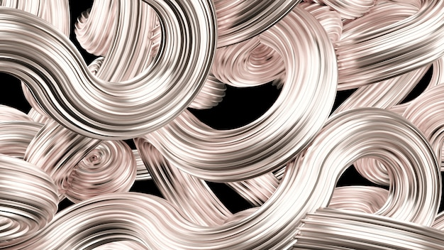 Beautiful silver background. 3d rendering.