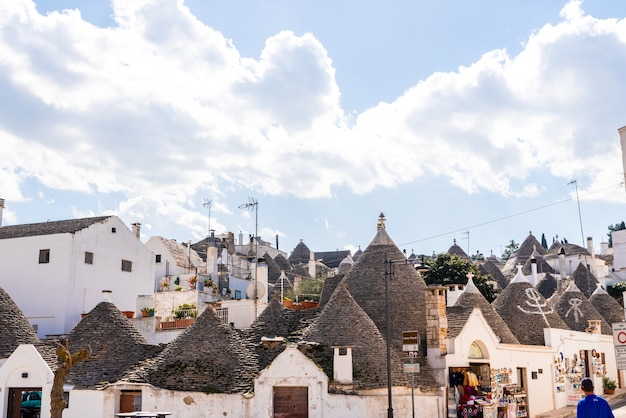 Beautiful single-storey houses of rounded construction called trulli