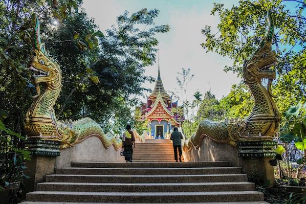 The beautiful sky and cloud thai skywalk  at mekong river sangkhom district, nong khai province, thailand