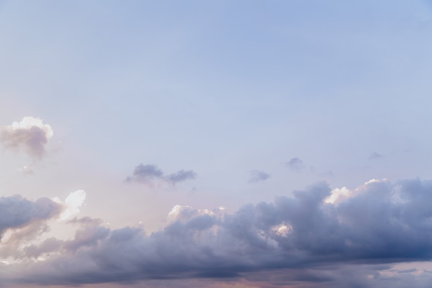Beautiful sky with cloud before sunset natural background