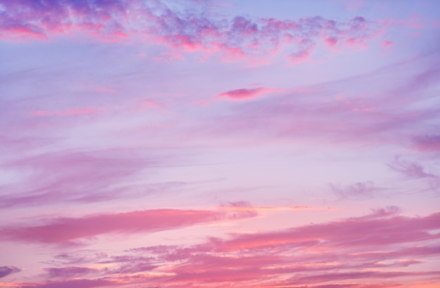 日没前に雲と美しい空