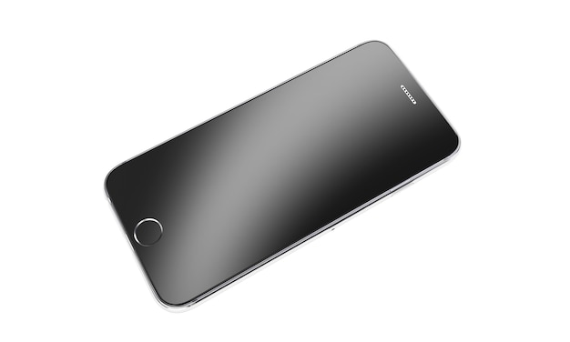 Beautiful smartphone on white background 3d render
