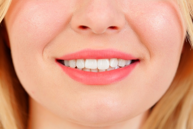 Beautiful smile with white teeths