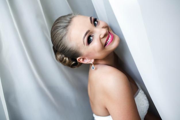 Beautiful smiling bride