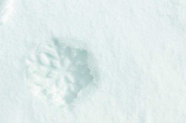 자연 눈 더미에 아름다운 눈송이 모양, 클로즈업