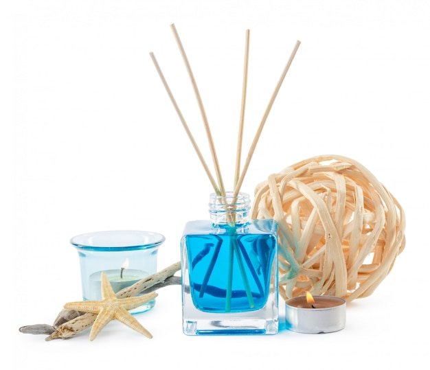 Beautiful spa composition with aroma diffuser