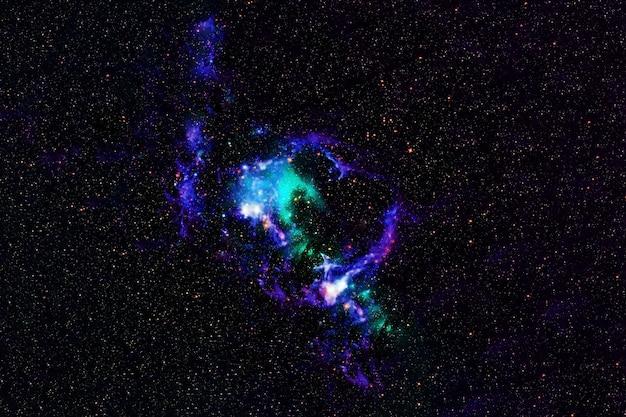 Красивый космос, голубая туманность. элементы этого изображения были предоставлены наса. для любых целей.