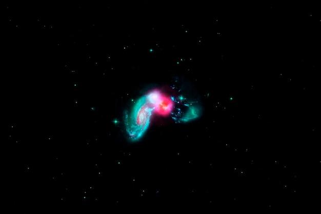 Красивое пространство, цветная галактика. элементы этого изображения были предоставлены наса. для любых целей.