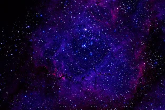 Красивое пространство со звездами и галактиками.