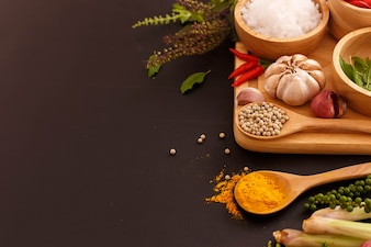 Beautiful spicy food background