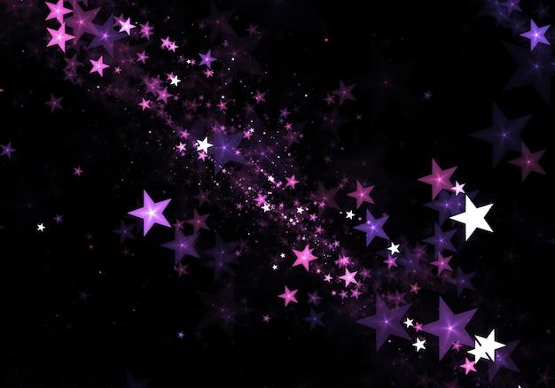 美しい星粒子の背景