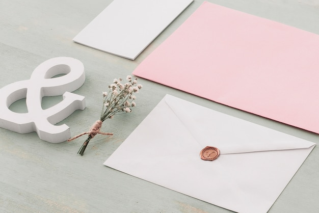 Beautiful stationery wedding concept