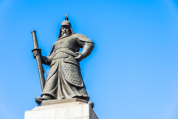 Beautiful statue admiral yi sun shin