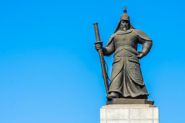 Beautiful statue admiral yi sun shin