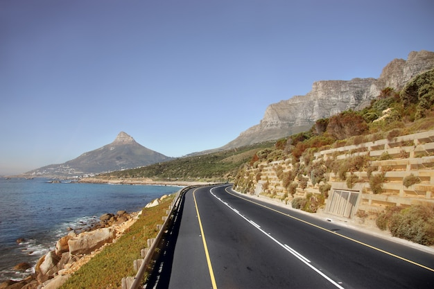 Beautiful street of cape town