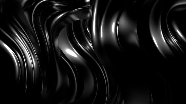プリーツ、ドレープ、まんじと美しいスタイリッシュな黒の背景。