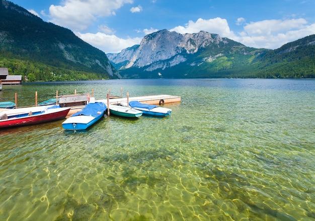 아름 다운 여름 알파인 호수 altausseer보기, 오스트리아