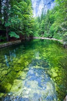 아름 다운 여름 알파인 호수 toplitzsee보기, 오스트리아