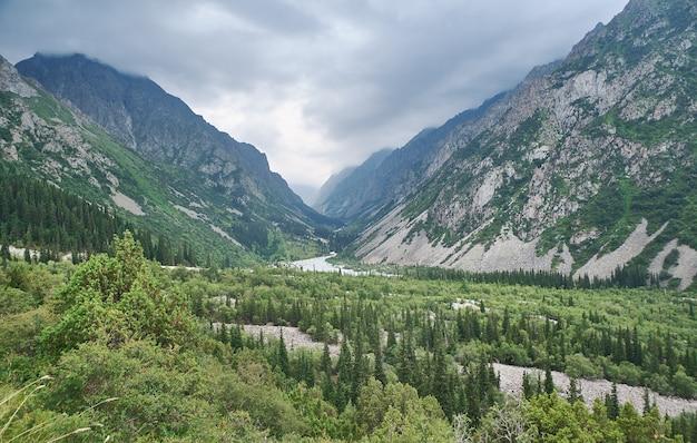 Красивые летние горы, национальный парк ала-арча в бишкеке, кыргызстан