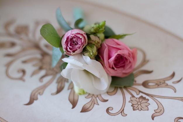 Beautiful summer wedding bouquet. delicate
