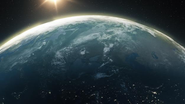 Прекрасный рассвет над землей