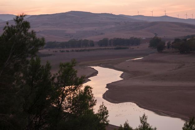 Beautiful sunrise and river landscape