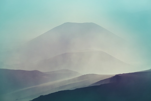 Haleakala 화산, 마우이 섬, 하와이에 아름다운 일출 장면
