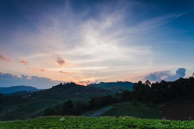 Beautiful sunrise in thailand
