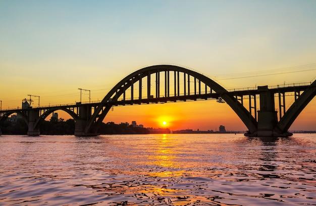 ドネプロペトロフスク市の美しい夕日