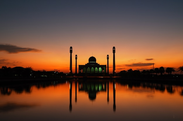 Beautiful sunset at the mosque