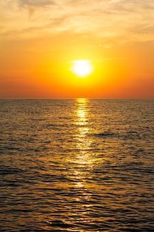 Beautiful sunset on the sea in summer
