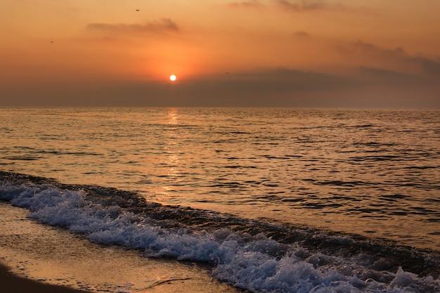 Beautiful sunset over the sea.