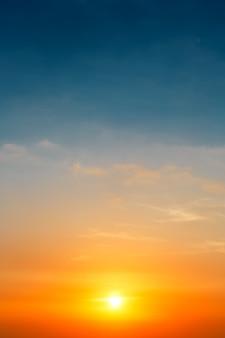 Beautiful sunset sky, nature background