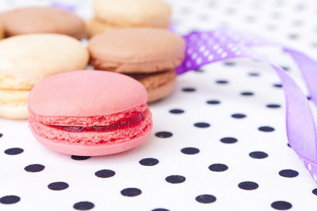 Beautiful and sweet pastries macaroon