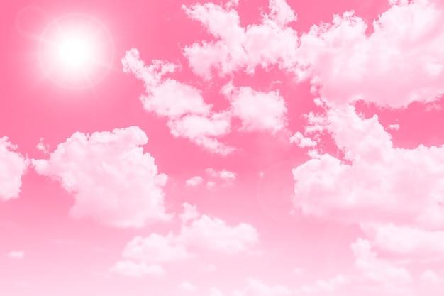 아름다운 스위트 스카이 클라우드 핑크는 웨딩 카드 배경에 대한 귀여운 색조를 좋아합니다.