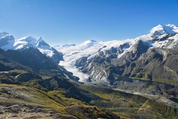 Beautiful swiss alps landscape with mountain view in summer, zermatt, switzerland