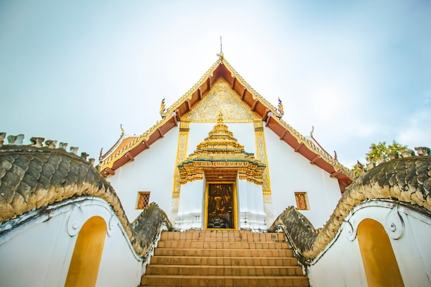 A beautiful temple from the north of thailand