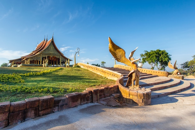 Beautiful temple phu proud at sirindhorn district, ubon ratchathani province, thailand